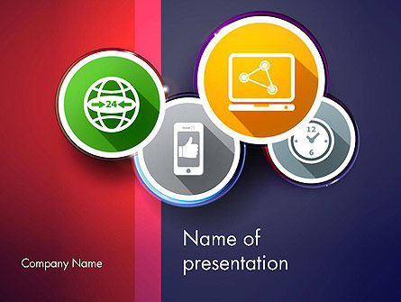Colorful Flat Designed Icons PowerPoint Template