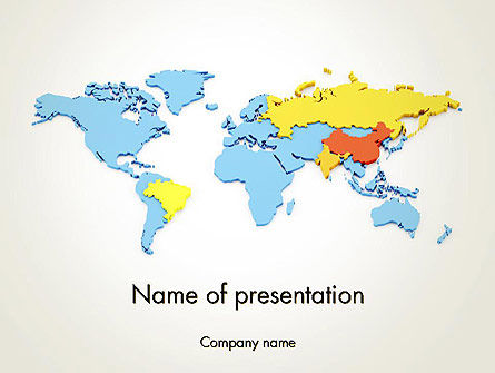BRIC Countries PowerPoint Template, 12264, Financial/Accounting — PoweredTemplate.com