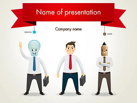 Education & Training: Banner and Characters PowerPoint Template #12265