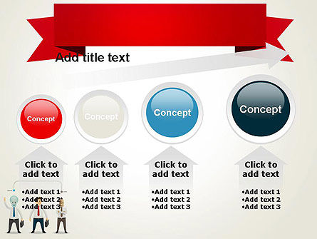 Banner and Characters PowerPoint Template Slide 13