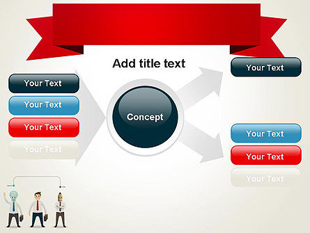Banner and Characters PowerPoint Template Slide 14