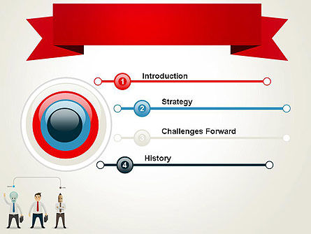 Banner and Characters PowerPoint Template Slide 3