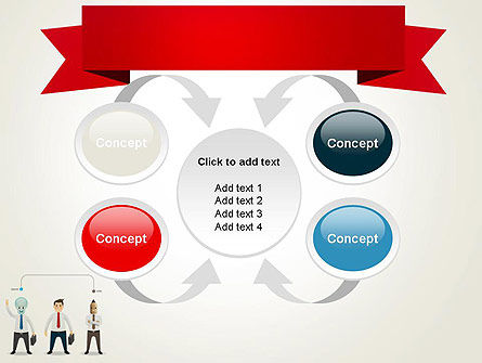 Banner and Characters PowerPoint Template Slide 6
