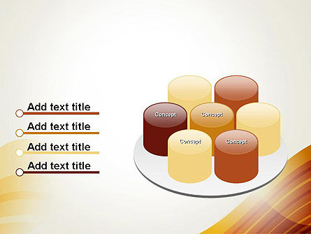 Stripy Waves PowerPoint Template Slide 12