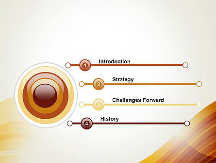 Stripy Waves PowerPoint Template Slide 3