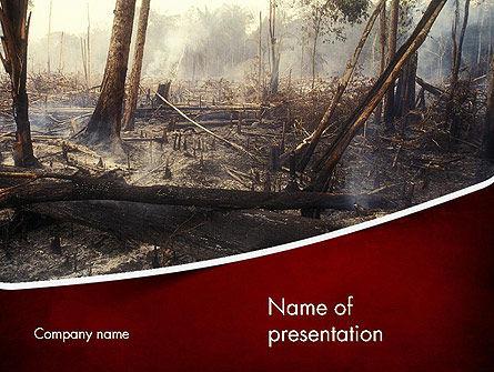 Nature & Environment: Templat PowerPoint Efek Dari Kebakaran Hutan #12271