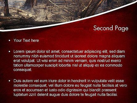 Effects of Forest Fire PowerPoint Template, Slide 2, 12271, Nature & Environment — PoweredTemplate.com