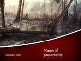 Nature & Environment: Effects of Forest Fire PowerPoint Template #12271
