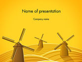Agriculture: Windmolens PowerPoint Template #12273