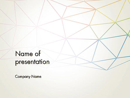 Abstract/Textures: Abstract Triangle Mesh PowerPoint Template #12275