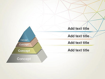 Abstract Triangle Mesh PowerPoint Template Slide 12