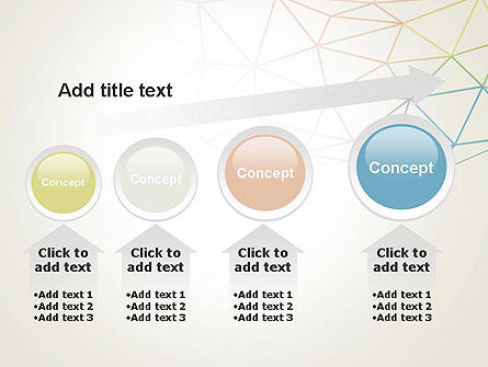 Abstract Triangle Mesh PowerPoint Template Slide 13