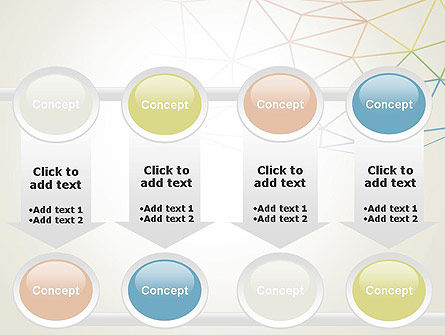 Abstract Triangle Mesh PowerPoint Template Slide 18