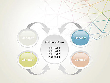 Abstract Triangle Mesh PowerPoint Template Slide 6