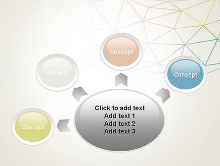 Abstract Triangle Mesh PowerPoint Template Slide 7