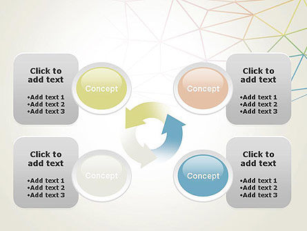 Abstract Triangle Mesh PowerPoint Template Slide 9