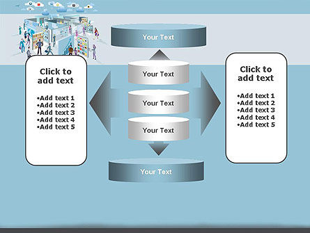 Mobile Business Applications Maze PowerPoint Template Slide 13