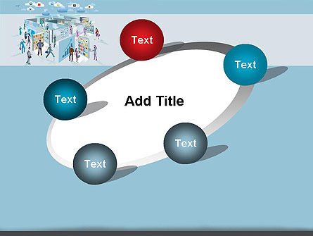 Mobile Business Applications Maze PowerPoint Template Slide 14