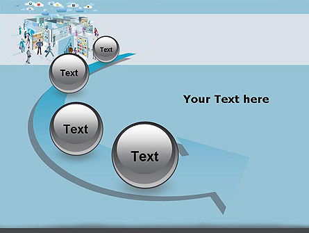 Mobile Business Applications Maze PowerPoint Template Slide 6