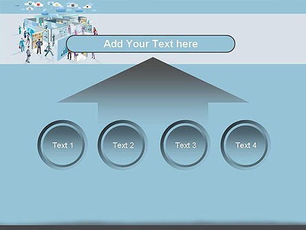 Mobile Business Applications Maze PowerPoint Template Slide 8