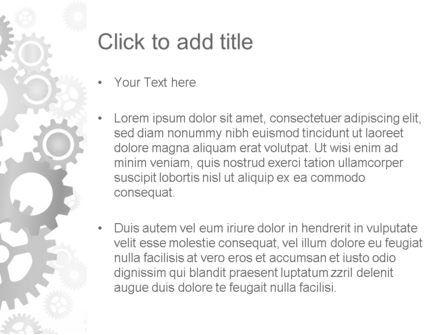 Gears Background PowerPoint Template, Slide 3, 12279, Abstract/Textures — PoweredTemplate.com
