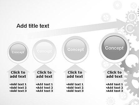 Gears Background PowerPoint Template Slide 13