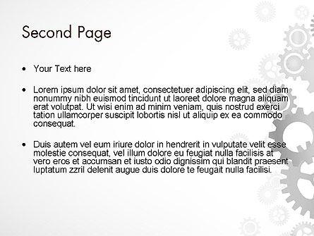 Gears Background PowerPoint Template, Slide 2, 12279, Abstract/Textures — PoweredTemplate.com