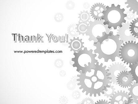 Gears Background PowerPoint Template Slide 20