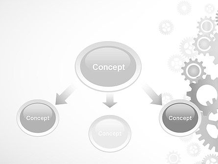 Gears Background PowerPoint Template, Slide 4, 12279, Abstract/Textures — PoweredTemplate.com