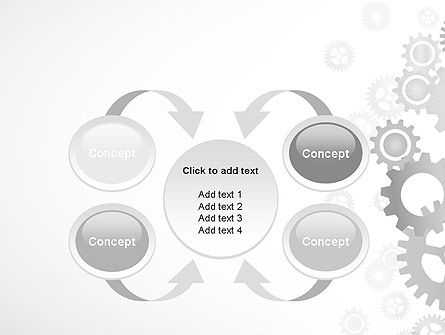 Gears Background PowerPoint Template Slide 6