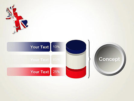 Great Britain Flag Map PowerPoint Template Slide 11