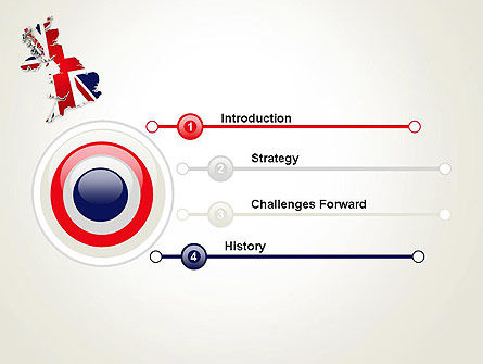 Great Britain Flag Map PowerPoint Template Slide 3