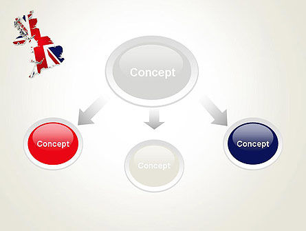 Great Britain Flag Map PowerPoint Template, Slide 4, 12280, Flags/International — PoweredTemplate.com