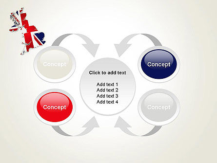 Great Britain Flag Map PowerPoint Template Slide 6