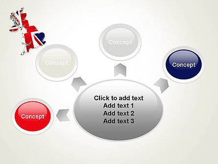 Great Britain Flag Map PowerPoint Template Slide 7