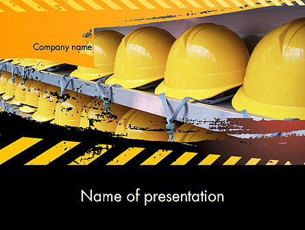 Careers/Industry: Safe at Work PowerPoint Template #12281