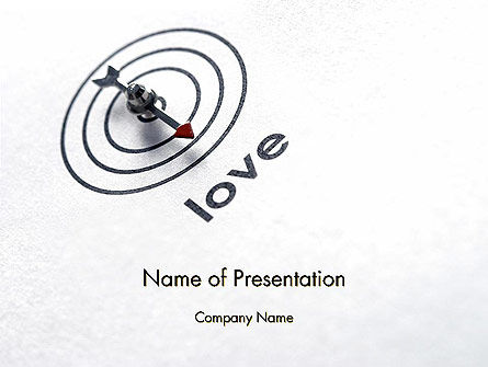 Falling In Love PowerPoint Template, 12282, Holiday/Special Occasion — PoweredTemplate.com