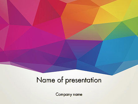 Abstract/Textures: Colorful Triangle Mesh PowerPoint Template #12283