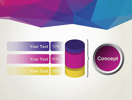 Colorful Triangle Mesh PowerPoint Template Slide 11