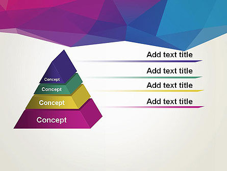 Colorful Triangle Mesh PowerPoint Template Slide 12