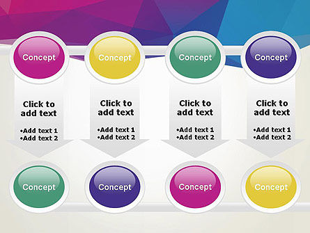 Colorful Triangle Mesh PowerPoint Template Slide 18