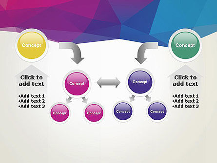 Colorful Triangle Mesh PowerPoint Template Slide 19