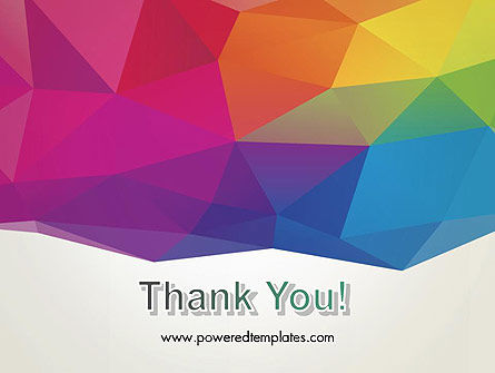 Colorful Triangle Mesh PowerPoint Template Slide 20
