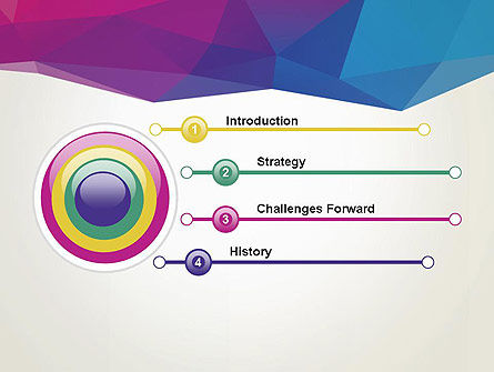 Colorful Triangle Mesh PowerPoint Template Slide 3