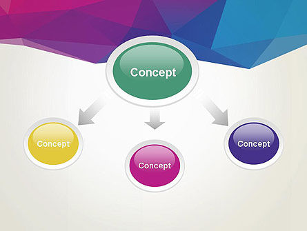 Colorful Triangle Mesh PowerPoint Template Slide 4