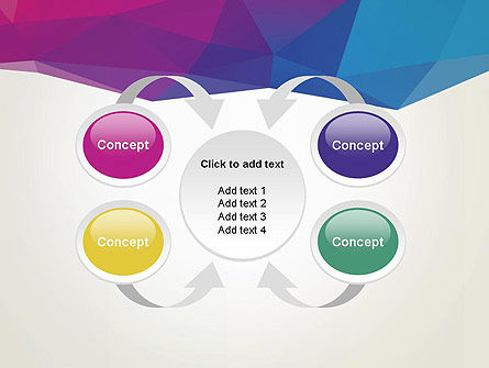 Colorful Triangle Mesh PowerPoint Template Slide 6