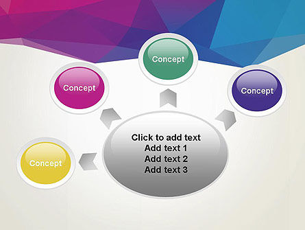 Colorful Triangle Mesh PowerPoint Template Slide 7