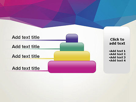Colorful Triangle Mesh PowerPoint Template Slide 8