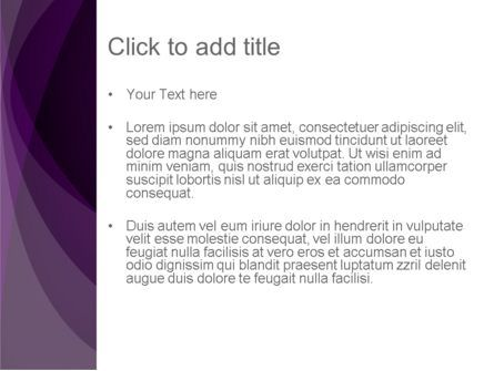 Abstract Violet PowerPoint Template, Slide 3, 12287, Abstract/Textures — PoweredTemplate.com