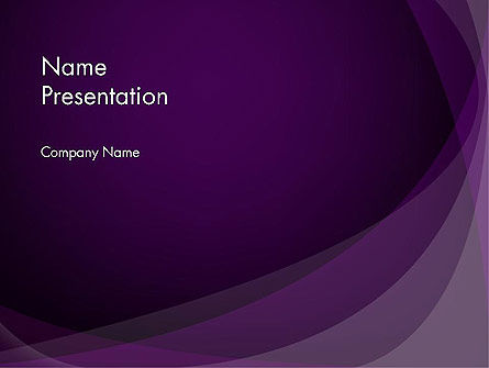 Abstract Violet PowerPoint Template